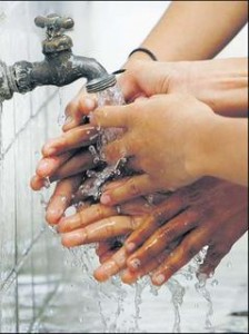 Washing hands thoroughly can help stop germs from spreading